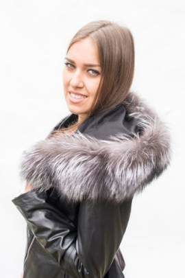 Genuine Fox Fur Hood Band