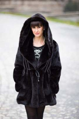 Genuine Full Mink Fur Coat