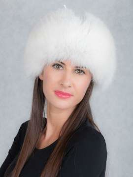 Genuine White Fox Fur Trapper Hat