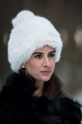 Woman's Genuine Rabbit Fur Hat