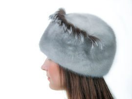 Genuine Mink Fur Hat – Grey