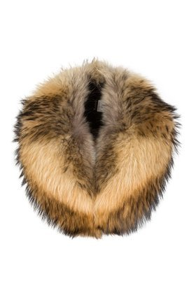 Natural Raccoon Fur Large Detachable Collar