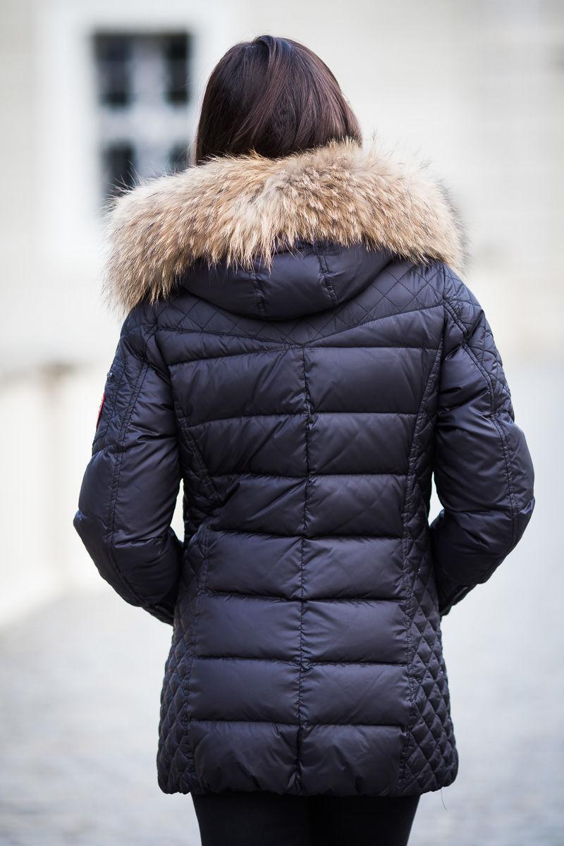 kurtki puchowe damskie polskie z jenotem naturalnym